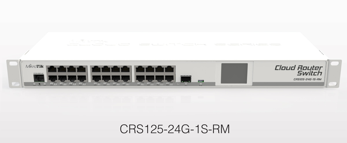 Mikrotik Cloud Router Switch Crs125 24g 1s Rm Complete 1