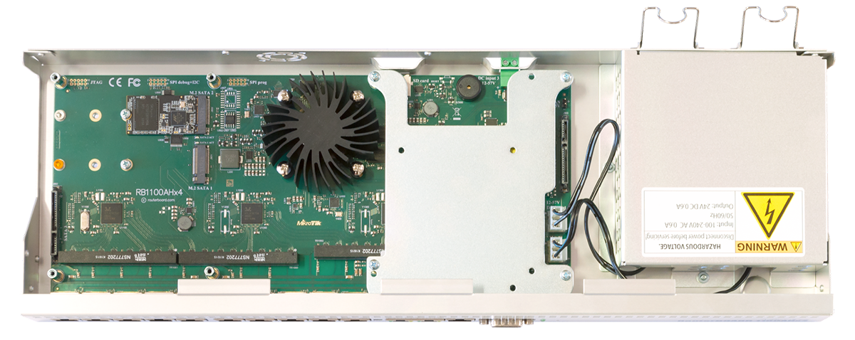 Mikrotik RouterBoard RB1100AHx4 inside view