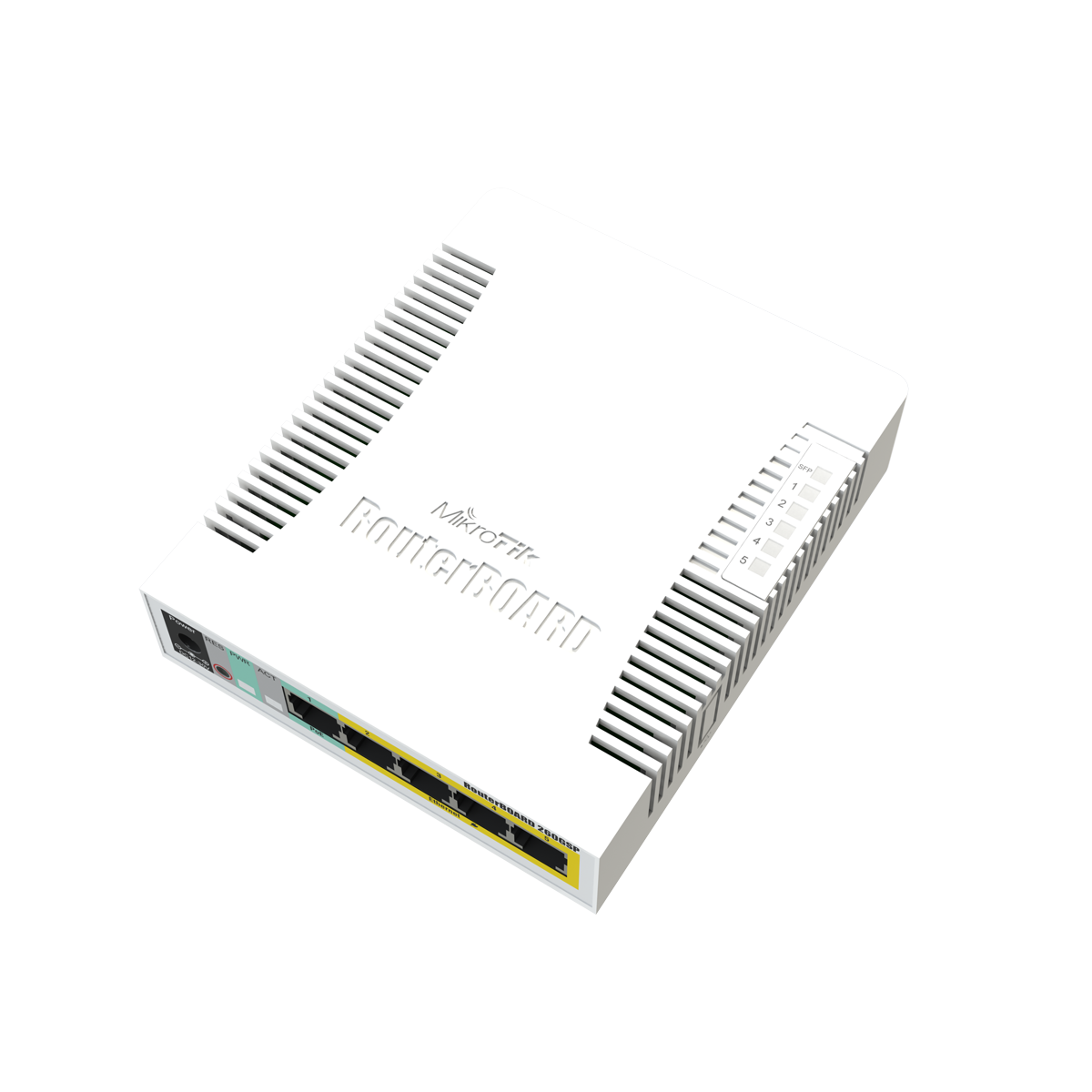 mikrotik routerboard rb260gsp smart gigabit switch with five 100  1000 ethernet ports  poe