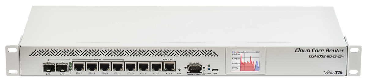 Mikrotik RouterBoard CCR1009 8G 1S 1S High Performance