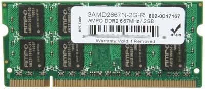 2GB Upgrade DDR2 module tested for RB1200, RB1100, and RB1000 - upgrade to the maximum 1.5GB RAM capacity