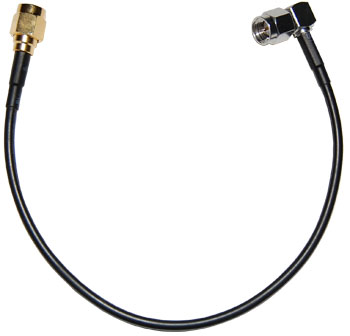 5210004-001  RPSMA to Right Angle SMA 8 inch pigtail cable