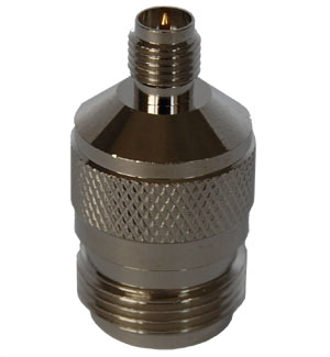 RPSMA Female to N Female Adapter. Gold Plated Contacts