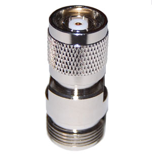 RPTNC Male to N Female Adapter. Gold Plated Contacts
