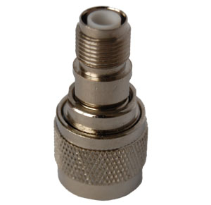 RPTNC Female to N Male Adapter, Gold Plated Contacts