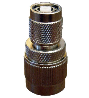 RPTNC Male to N Male Adapter. Gold Plated Contacts