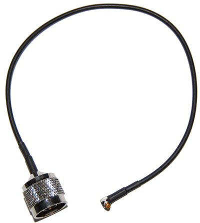 CA100-NM-MC-12 Right Angle MC to N-Male pigtail cable  12 inches (310mm) long