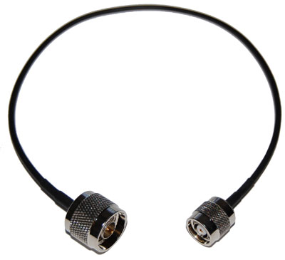 CA100-NM-RTNCM-12 RP-TNC Male to N-Male pigtail cable  12 inches (310mm) long