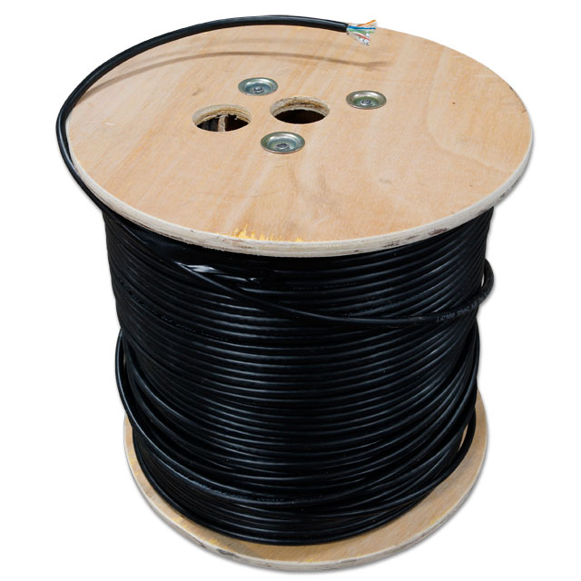 CAT5e shielded flooded Ethernet cable - 1000 foot roll