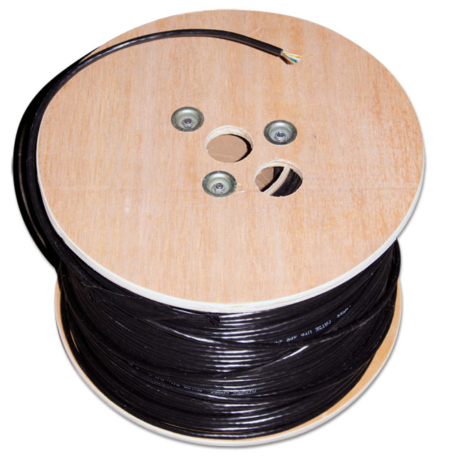 CAT5e unshielded flooded Ethernet cable - 1000 foot roll