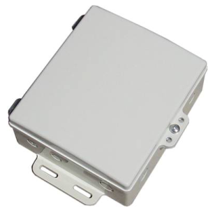 DCE-ANT5819 5GHz 19dBi V-polarity Antenna Hinged Door with DCE-7x6x2 NEMA6 Weatherproof Die Cast Aluminum Enclosure