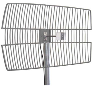 Laird /Pacific Wireless 2.4GHz 24dBi DieCast Parabolic Grid Antenna