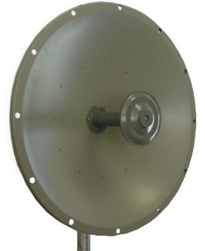 Laird /Pacific Wireless 32dBi 4.9-5.8GHz Wideband 3 foot (0.9M) Dish Antenna - Single Polarity