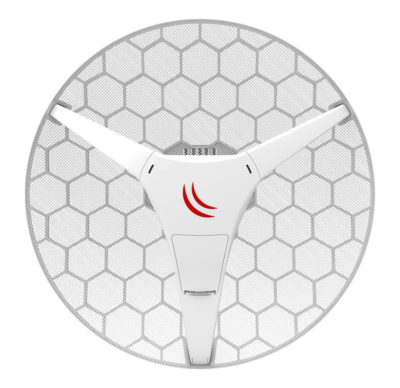 Mikrotik LHG 5 ac (RBLHGG-5acD-US) is a compact and light 5GHz 802.11ac wireless device with an integrated dual polarization 24.5 dBi grid antenna at a revolutionary price!