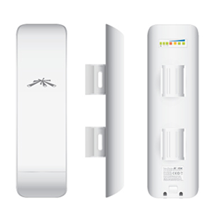 NSM5 NanoStationM5 MIMO Ubiquiti 5GHz 802.11n CPE Featuring Adaptive Antenna Polarity (AAP) Technology, FCC Approved - US version
