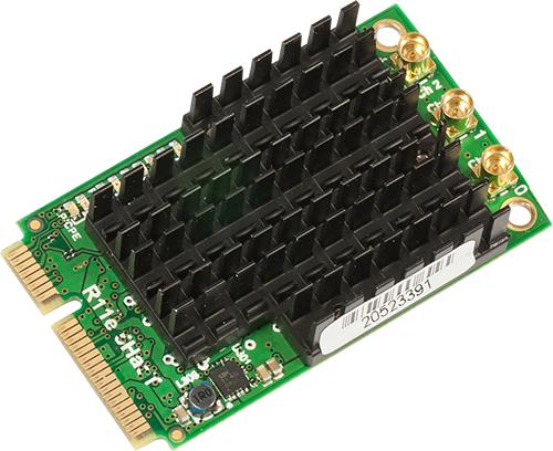 R11e-5HacT Mikrotik 802.11ac High Power Triple Chain MiniPCIe card - 630mw output Atheros QCA9880 chipset -New!