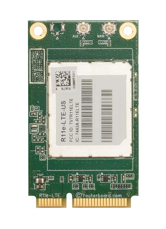 R11e-LTE-US Mikrotik 2G/3G/4G/LTE miniPCI-e card with support for bands 2/4/5/12 (for the Americas) - New!