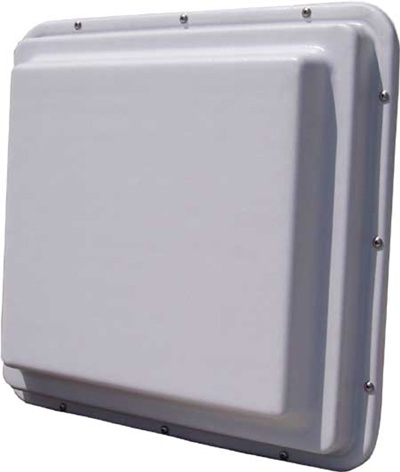 R2T24-19 Roo2 2.4GHz 19dBi Waterproof Compartment Antenna, White, low profile.