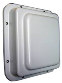 R2T58W-19 Roo2 5GHz 19dBi Waterproof Compartment Antenna. White, regular profile.