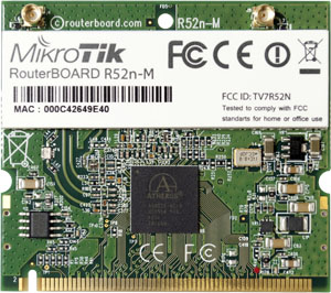 R52nM Mikrotik 802.11a/b/g/n High Power MiniPCI card - 200mw output Atheros AR9220 chipset - New!