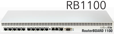 Mikrotik RouterBoard RB/1100 RB1100 complete Extreme Performance Router with 13-10/100/1000 ethernet ports and RouterOS Level 6 license - EOL