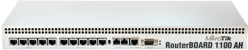 Mikrotik RouterBoard RB/1100AH RB1100AH complete Extreme Performance Router with 13-10/100/1000 ethernet ports and RouterOS Level 6 license - New!