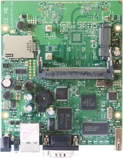RB/411U RB411U Mikrotik RouterBOARD 411 with 300MHz AR7130 CPU, 32MB DDR RAM, 1 LAN, 1 miniPCIe, 1 USB, 64MB NAND, RouterOS L4