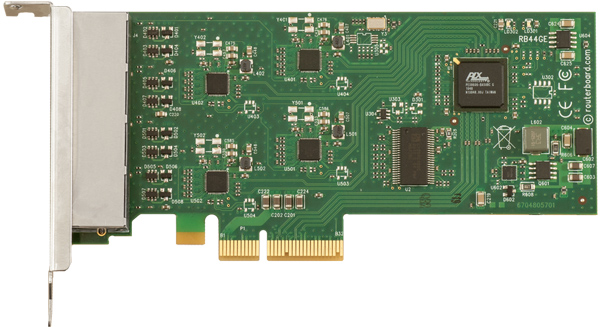 RB44Ge Mikrotik RouterBOARD RB44G PCIe 4-port Gigabit Ethernet adapter (Atheros AR8131/M Chipset)