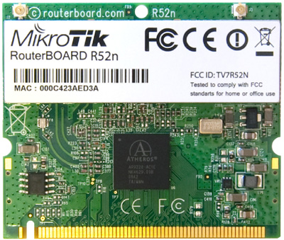 R52n Mikrotik 802.11a/b/g/n High Power MiniPCI card - 350mw output Atheros AR9220 chipset - New!