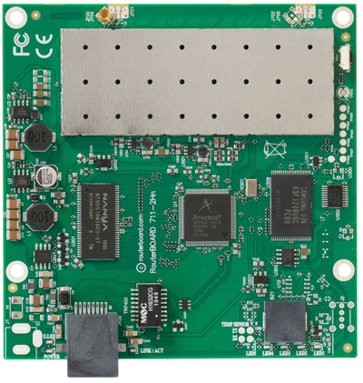 RB711-2Hn Mikrotik RouterBOARD 711 with Atheros AR7240 400MHz CPU, 32MB DDR RAM, 2.4GHz 500mW 802.11b+g/n radio, and RouterOS L3 - New!