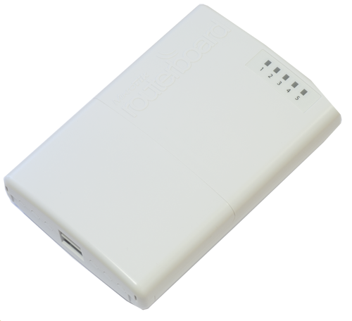 Mikrotik RouterBoard PowerBOX RB/750P-PB RB750P-PB  5 port 10/100 switch and/or router in an outdoor case with PoE output on ports 2-5 - New!