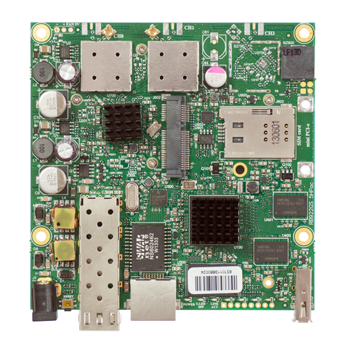 RB922UAGS-5HPacD-US (US and Canada version) Mikrotik RouterBOARD 912G with Atheros QCA9557 720MHz CPU, 128MB DDR RAM, 5GHz 802.11ac dual chain radio, and RouterOS L4 - New!