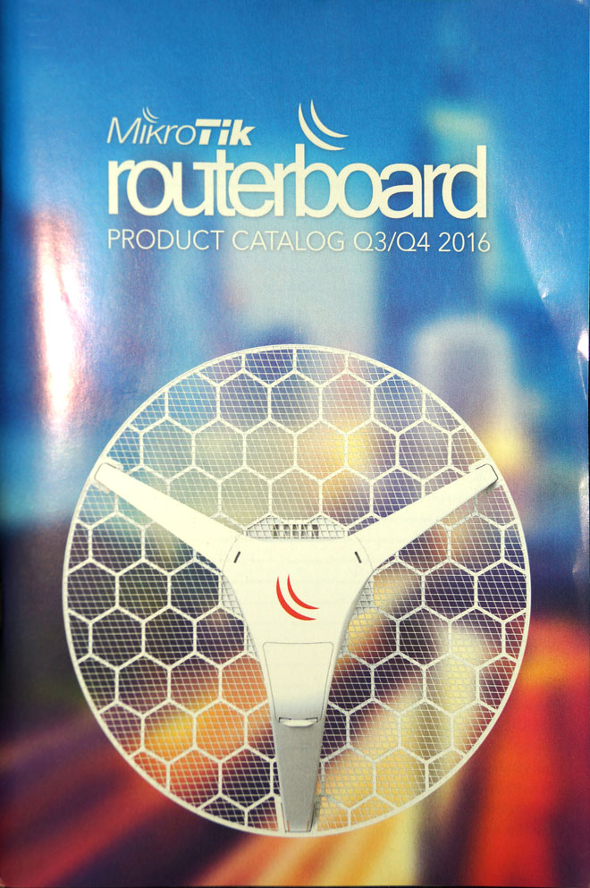 Mikrotik RouterBoard Brochure Q1/Q2-2017 Color Catalog showing all current and new Mikrotik Products