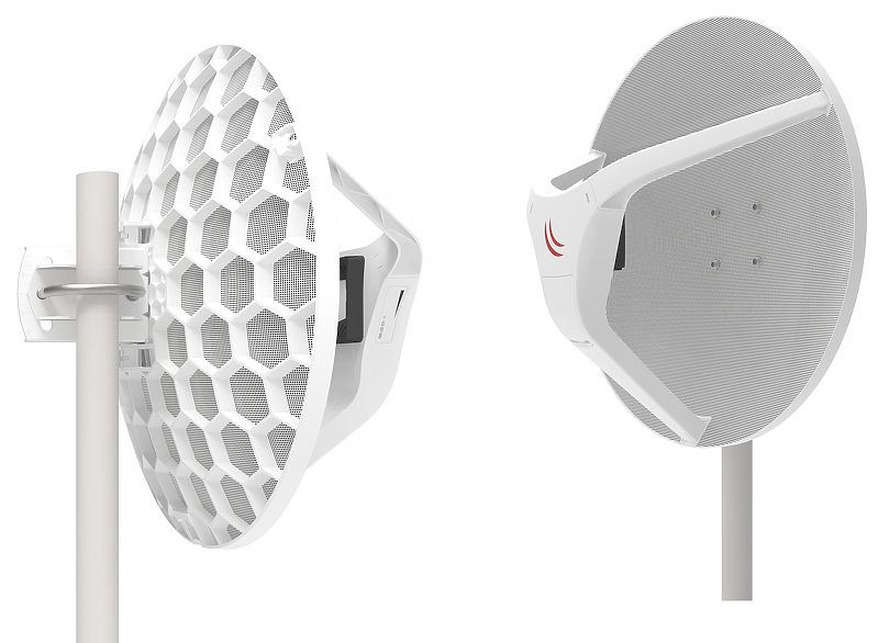 Wireless Wire Dish (RBLHGG-60adkit), pair of preconfigured LHGG-60ad for 60Ghz link - New!
