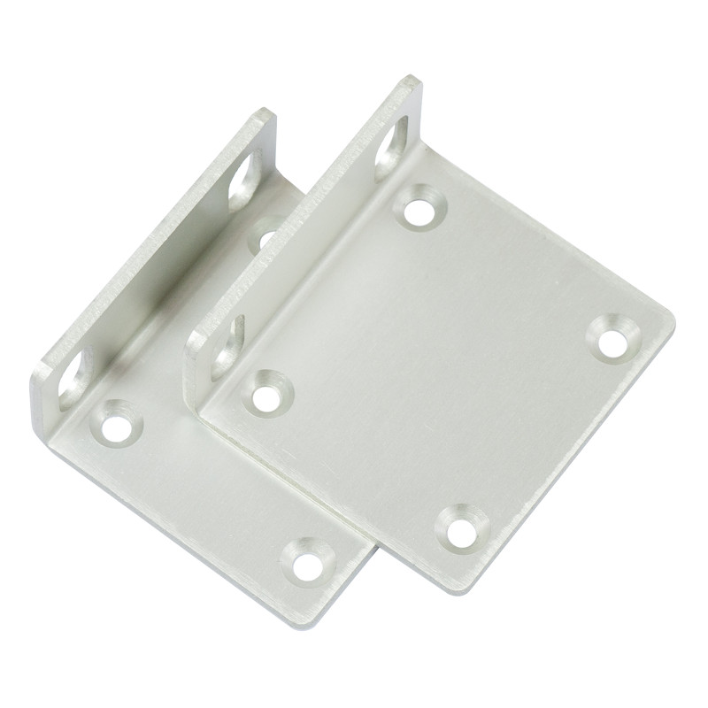 OEM Mikrotik Rack Mount Kit for RB1100AHx2 Router - clear aluminum finish with screw kit