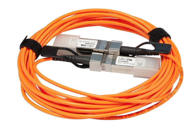 Mikrotik SFP+ direct attach Active Optics cable, 5m - New!
