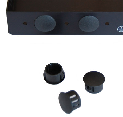 Black Plastic Plugs for Mikrotik RouterBoard Antenna Holes - 12 pieces - N-type