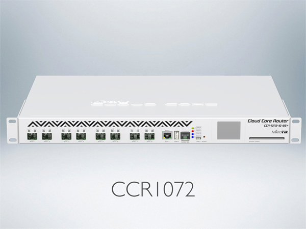 Mikrotik RouterBoard CCR1072-1G-8S+ Extreme Performance Cloud Core Router with 8 SFP+ ports, 1 Ethernet port and RouterOS Level 6 license - new!