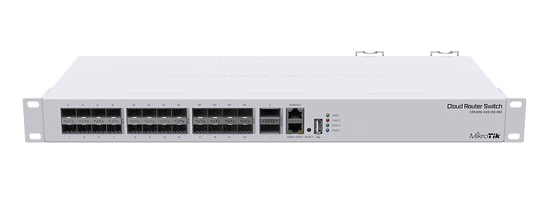 Mikrotik Cloud Router Switch CRS326-24S+2Q+RM SFP switch, 24 - 10 Gpbs SFP+ ports with 2 - 40 Gpbs QSFP+ ports in a 1U rack mount case - New!