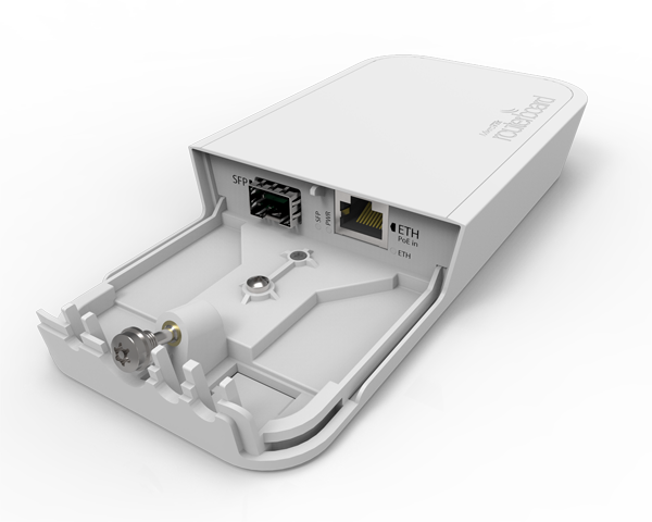 Mikrotik RBFTC11 is Fiber to Copper converter with 12-57V PoE with 802.3af/at support in an outdoor waterproof case - New!