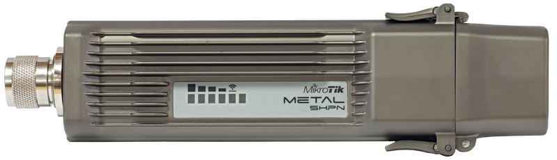 Mikrotik RouterBOARD Metal 5SHPn RBMetal5SHPn (US and Canada) with 400MHz Atheros CPU, 64MB RAM, 1 LAN, 1.3W 5GHz 802.11a/n, ROS L4, Power Supply