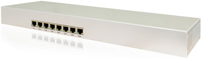 Roc-Box 493G is a Mikrotik RouterBoard RB493G in a custom aluminum 1U rack mount case with internal power supply - new!