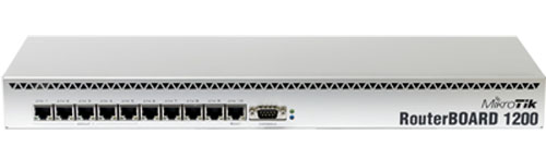 Mikrotik RouterBoard RB/1200 RB1200 complete High Performance Router with 10-10/100/1000 ethernet ports and RouterOS Level 6 license - New!