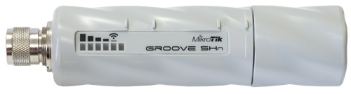 Mikrotik RouterBOARD GrooveA 52 ac (US/Canada version) with 720MHz Atheros CPU, 64MB RAM, 1 LAN, 2.4GHz or 5GHz 802.11a/b/g/n and ROS L3, Power Supply - New!