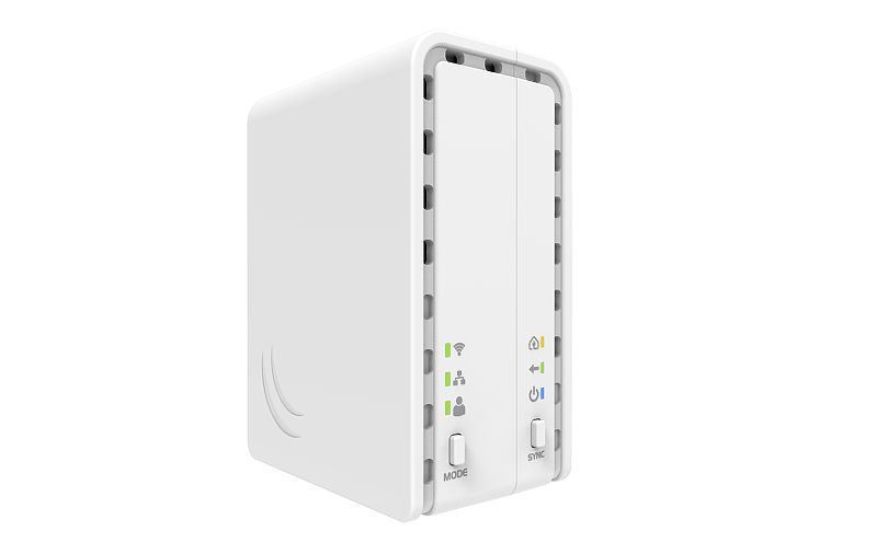 Mikrotik PL6411-2nD 802.11b/g/n WiFi AP with a single Ethernet port and capability to connect to other PWR-LINE devices - New!