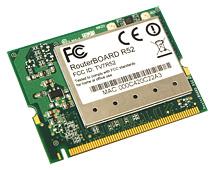 R52 Mikrotik 802.11a/b/g MiniPCI card - 79mw output Atheros - AR5414 chipset