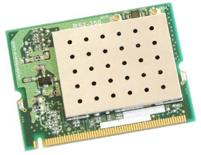 R52H Mikrotik 802.11a/b/g High Power MiniPCI card - 350mw output Atheros AR5414 chipset