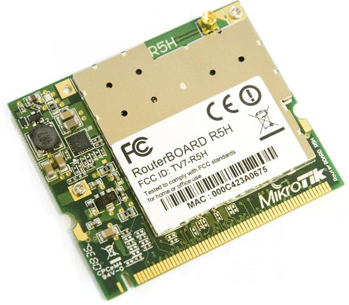 R5H Mikrotik 802.11a High Power MiniPCI card - 320mw output Atheros AR5414A chipset MMCX connector