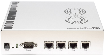 Mikrotik RouterBoard RB/1000 RB1000 complete Extreme Performance Router with 4-10/100/1000 ethernet ports and RouterOS Level 6