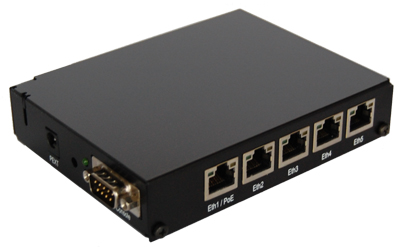 Mikrotik RouterBoard RB/450 RB450 complete 5 port 10/100 layer 3 switch and/or router assembled with case and power supply